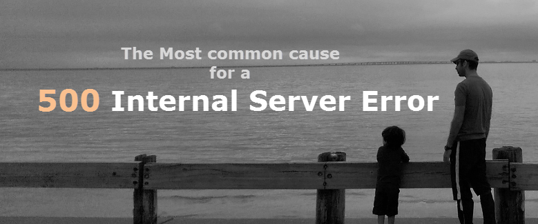 The most common cause for a 500 Internal Server Error.
