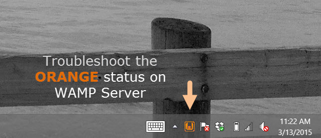 Troubleshooting the orange status light in WAMP Server